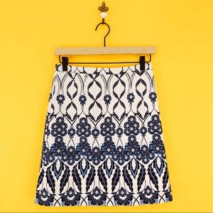 J.Crew Trellis Floral Skirt Size 00